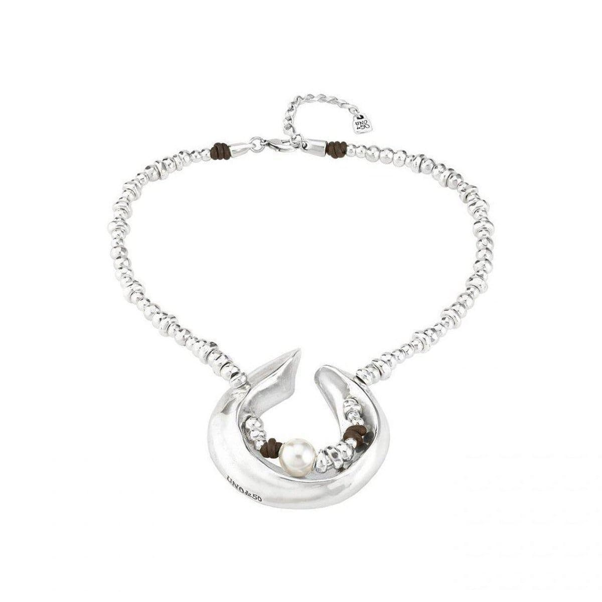 Half Moon Necklace - COL1249BPLMTL0U-UNO de 50-Renee Taylor Gallery