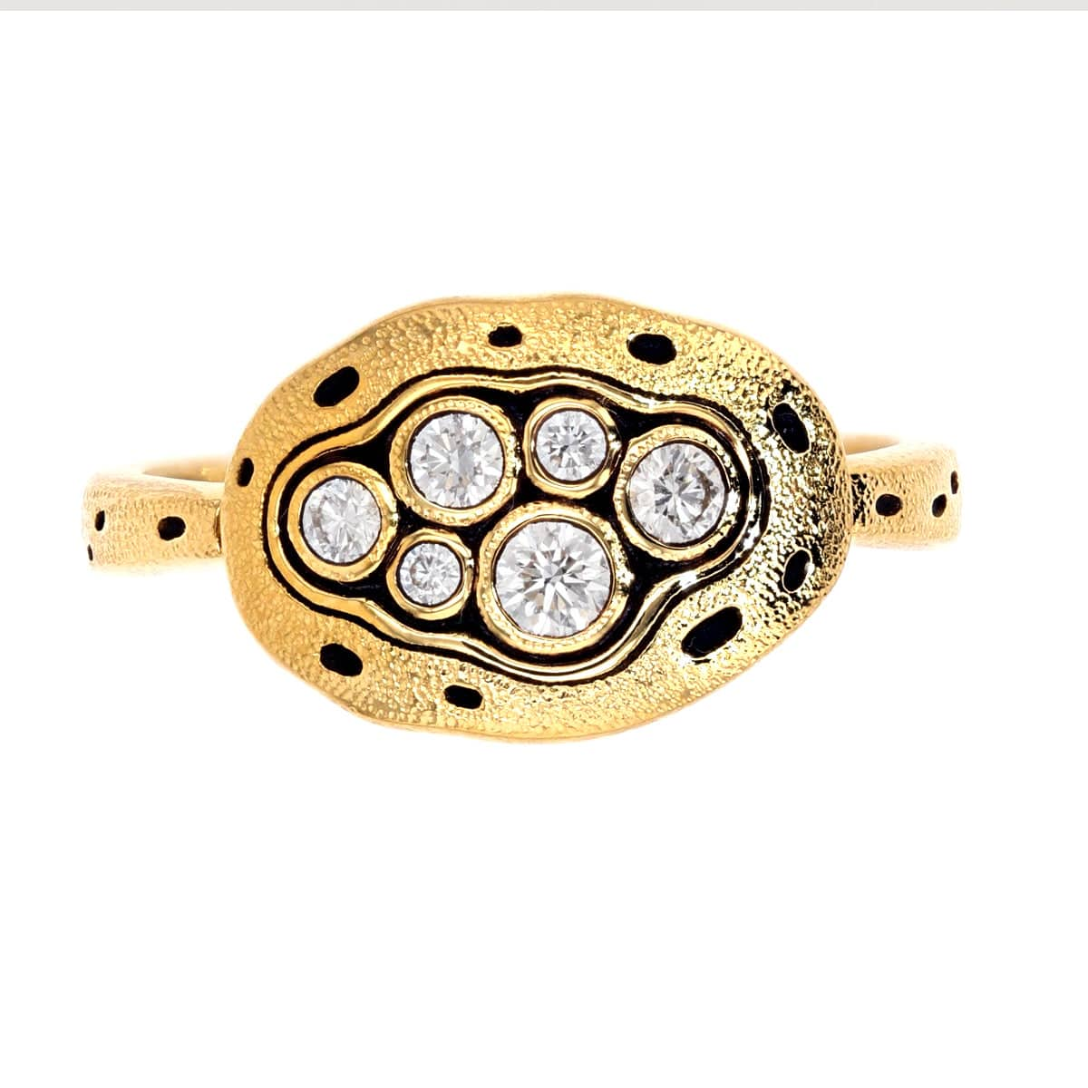 18K Little Pool Diamond Ring - R-140D-Alex Sepkus-Renee Taylor Gallery