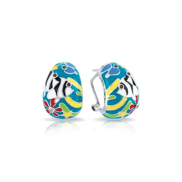 Angelfish Teal Earrings-Belle Etoile-Renee Taylor Gallery