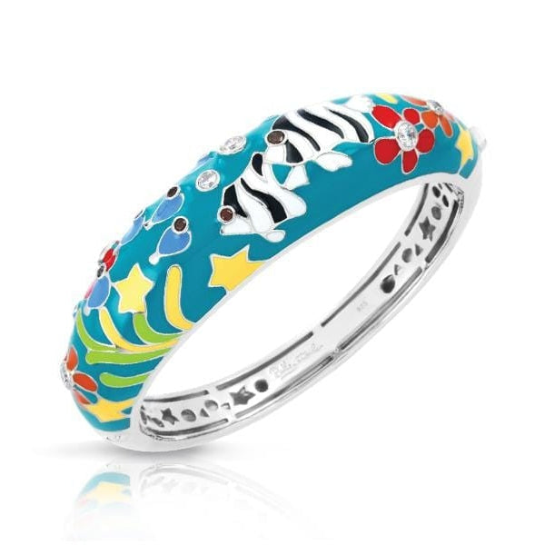 Angelfish Teal Bangle-Belle Etoile-Renee Taylor Gallery