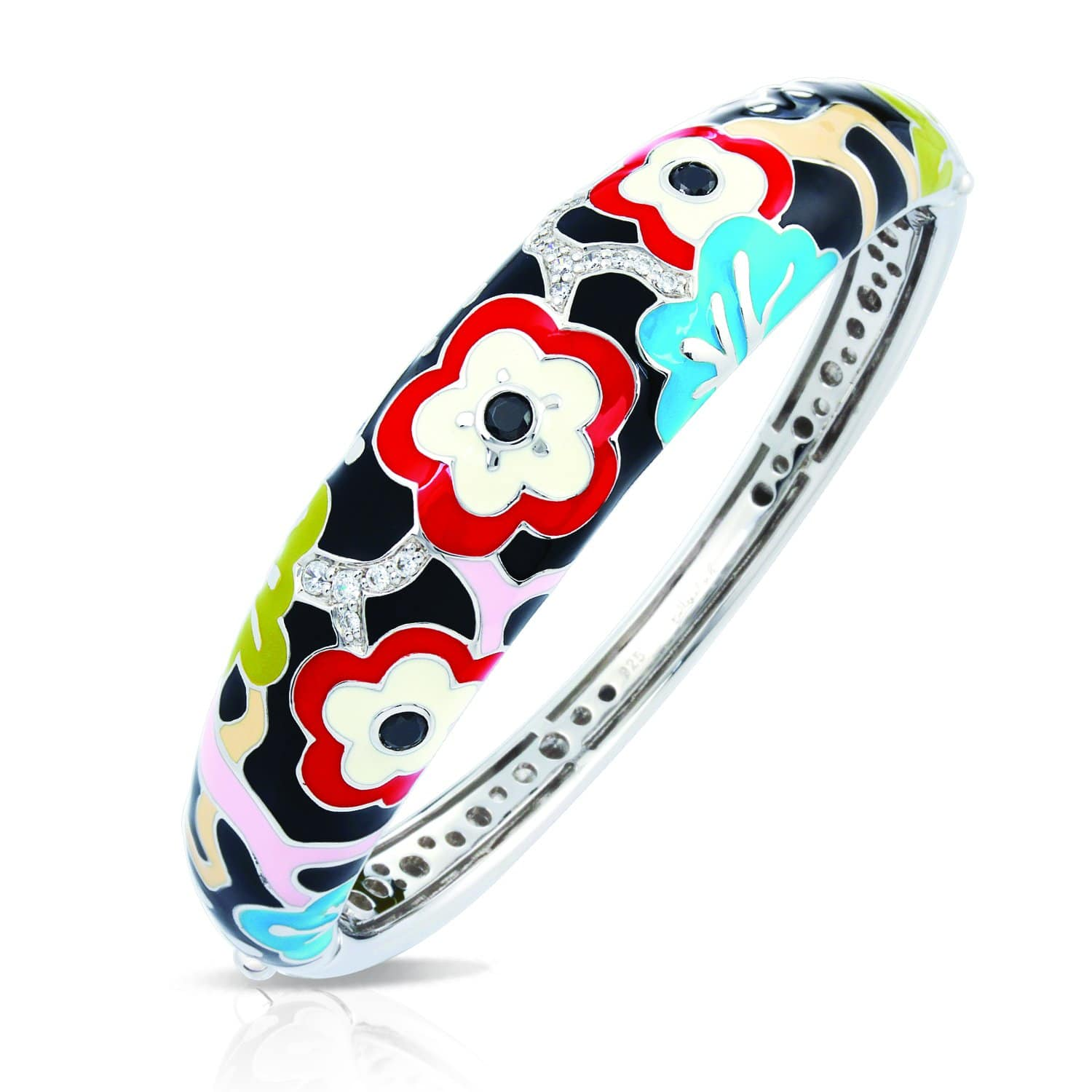 Cherry Blossom Red Bangle-Belle Etoile-Renee Taylor Gallery