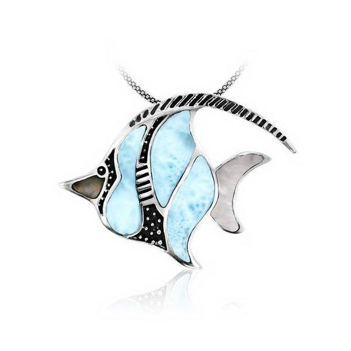 Angelfish Necklace - Nange01-00-Marahlago Larimar-Renee Taylor Gallery