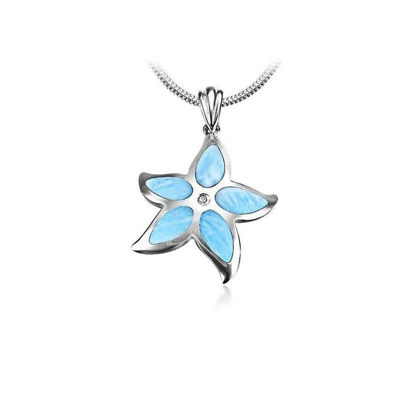 Starfish Necklace - Nstar01-ch-Marahlago Larimar-Renee Taylor Gallery