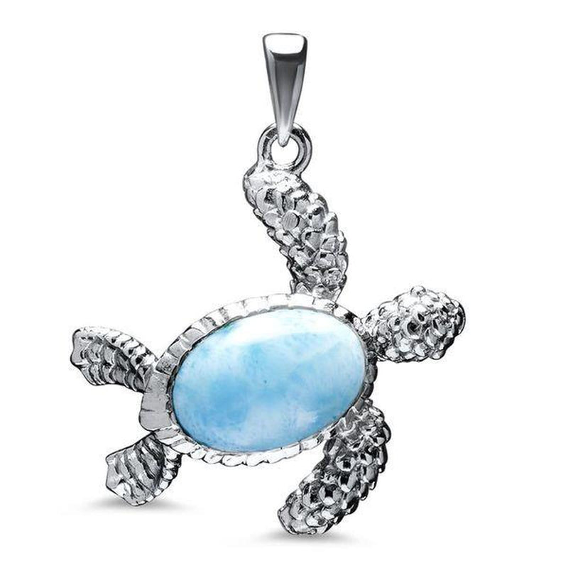 Turtle Necklace - Nturt00-ch-Marahlago Larimar-Renee Taylor Gallery