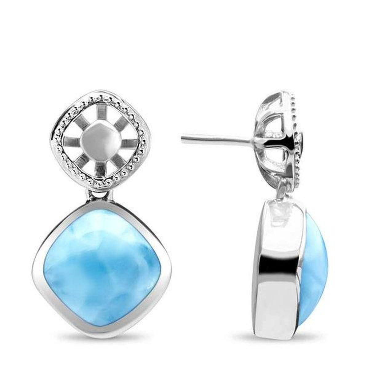 Aspen Earrings - Easpe00-00-Marahlago Larimar-Renee Taylor Gallery