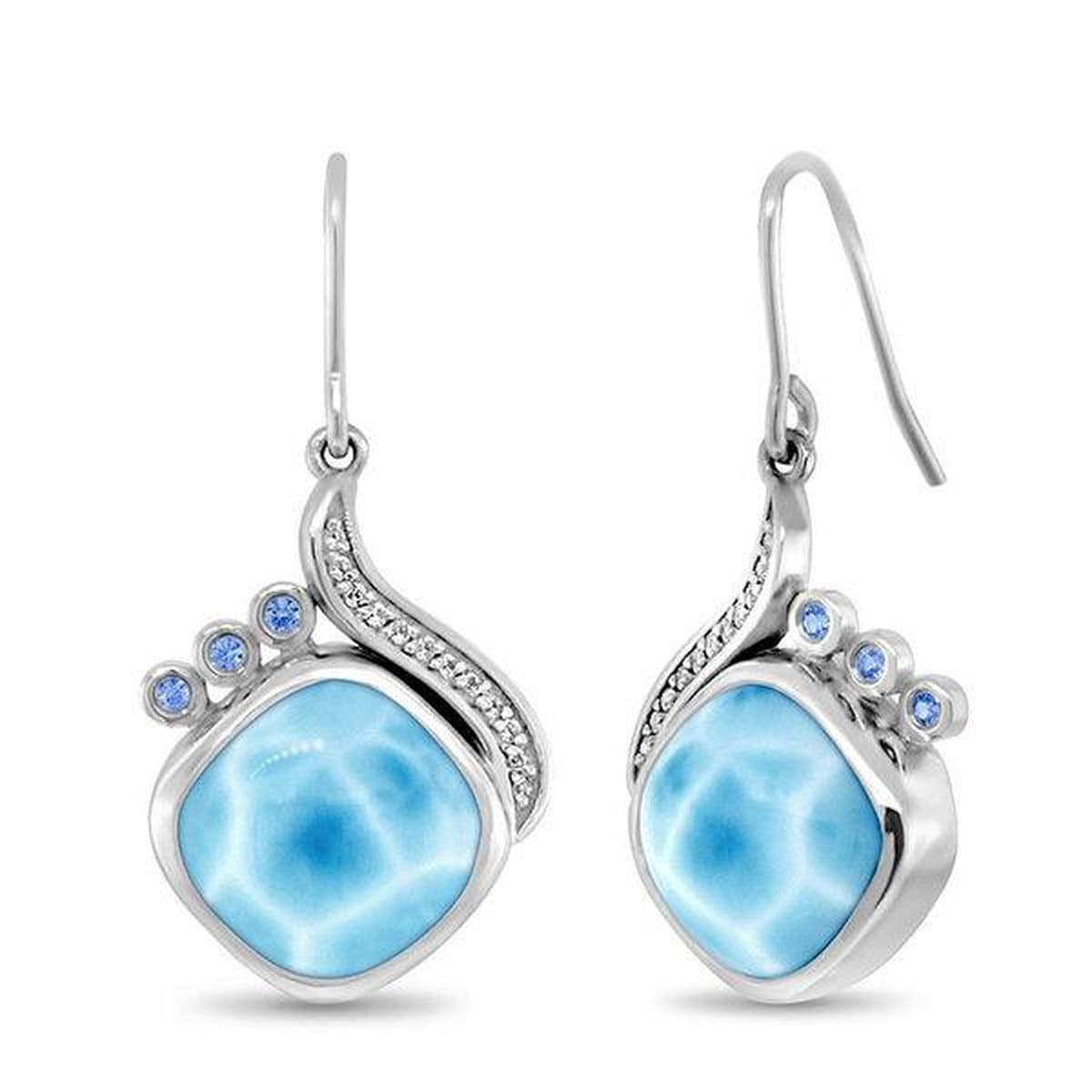 Aurora Earrings - Eauro00-00-Marahlago Larimar-Renee Taylor Gallery