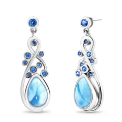 Constellation Earrings - Econs00-00-Marahlago Larimar-Renee Taylor Gallery