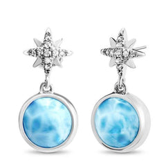Destiny Earrings - Edest00-00-Marahlago Larimar-Renee Taylor Gallery