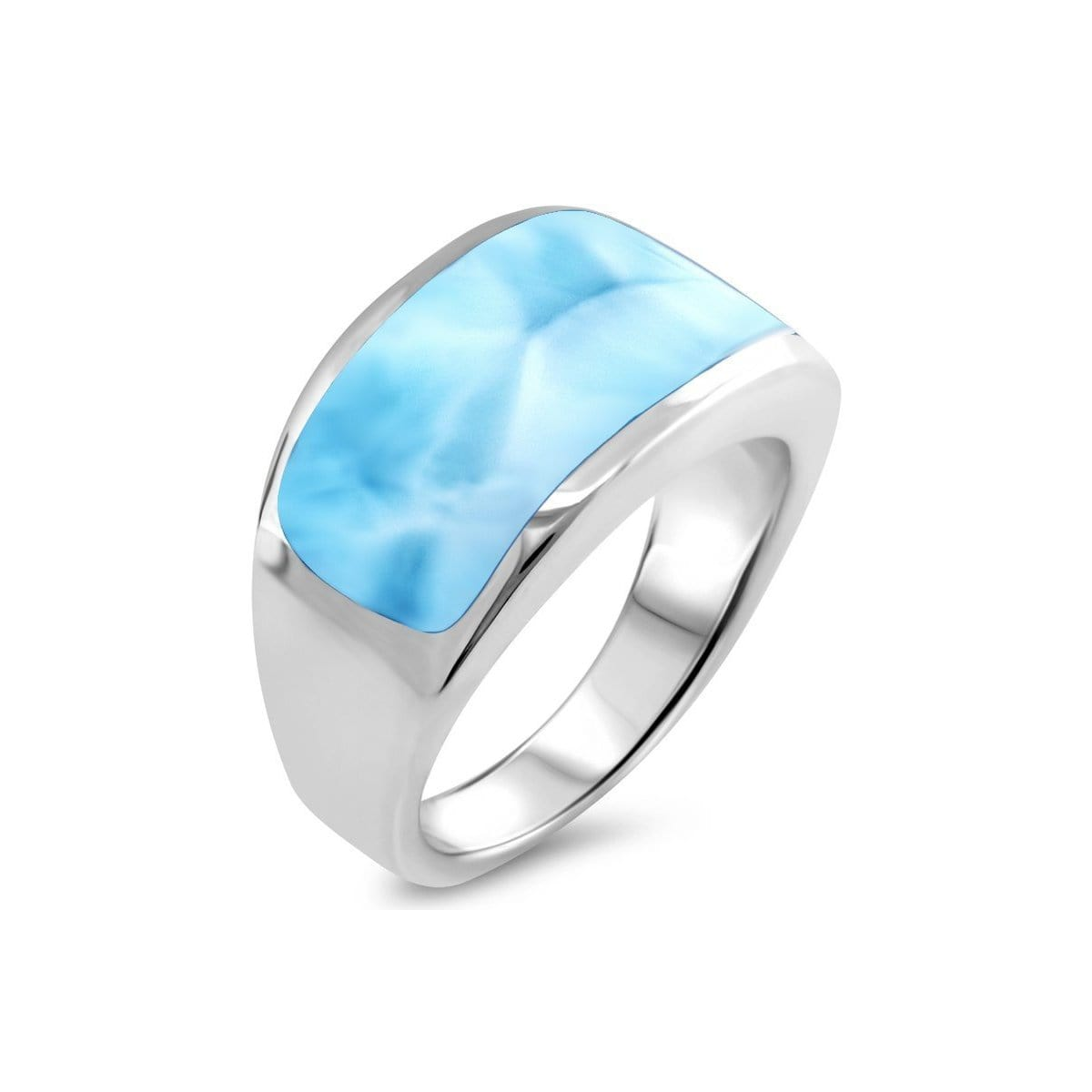 Encore Ladies Ring - Renco01-00-Marahlago Larimar-Renee Taylor Gallery