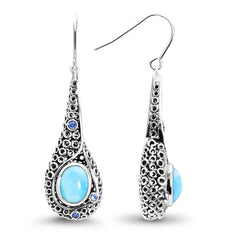 Imani Earrings - Eiman00-00-Marahlago Larimar-Renee Taylor Gallery