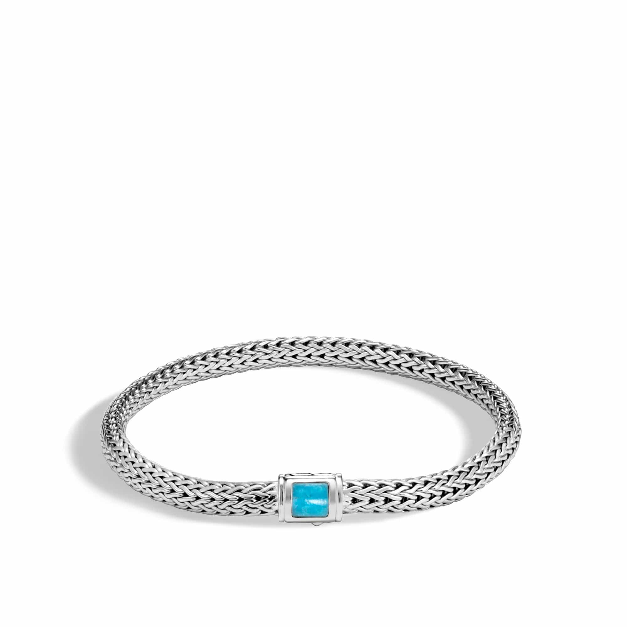 Classic Chain Turquoise Bracelet - BBS961841TQ-John Hardy-Renee Taylor Gallery