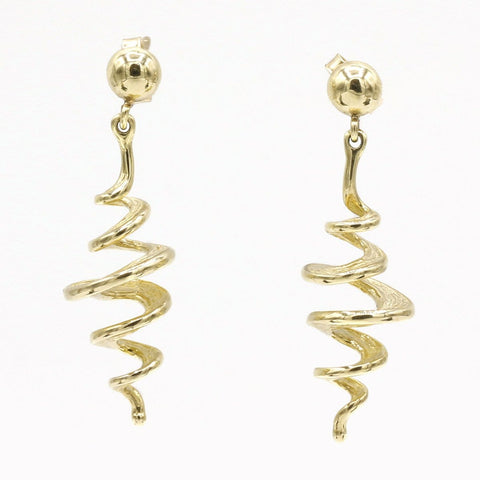 14K Yellow Gold Earrings - 215Q-Y-Leon Israel Designs-Renee Taylor Gallery