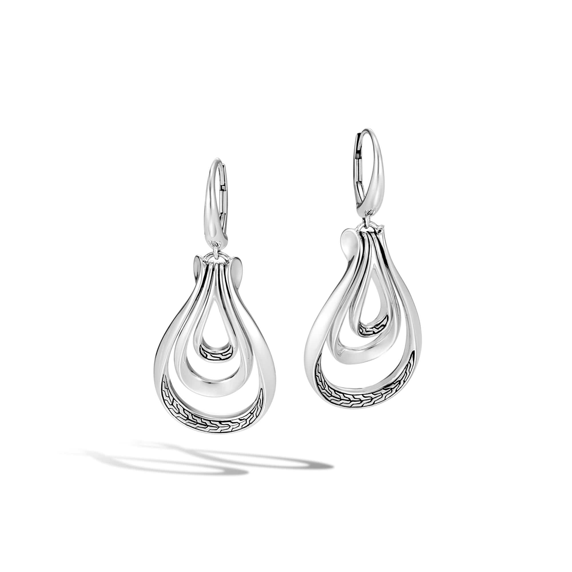 Classic Chain Asli Silver Earrings - EB90132-John Hardy-Renee Taylor Gallery