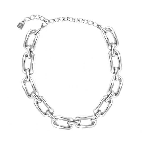 Chained Necklace - COL1297MTL0000U-UNO de 50-Renee Taylor Gallery