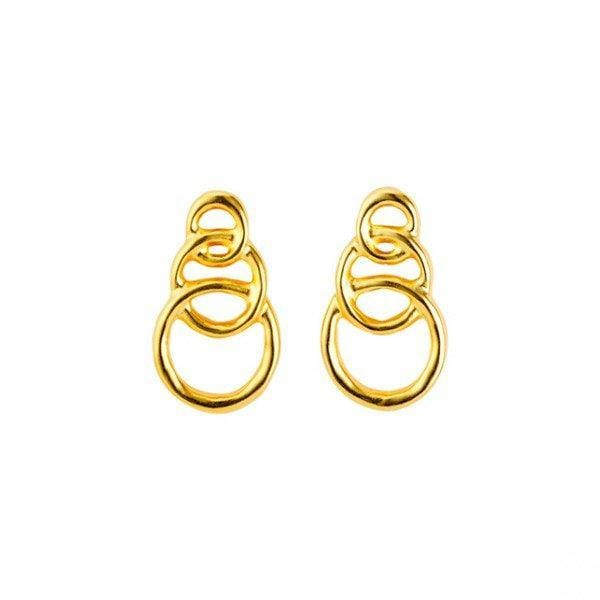 Gold Chain By Chain Earrings - PEN0591ORO0000U-UNO de 50-Renee Taylor Gallery