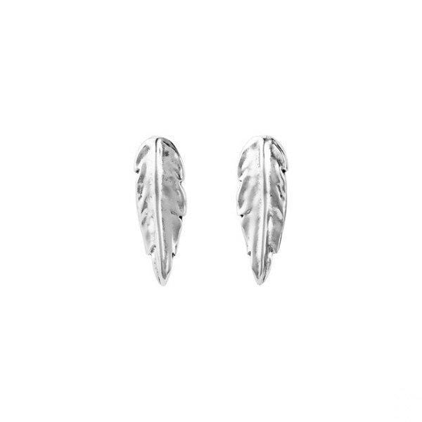 Feather Earrings - PEN0598MTL0000U-UNO de 50-Renee Taylor Gallery