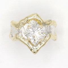 14K Gold & Crystalline Silver White Topaz Ring - 37405-Fusion Designs-Renee Taylor Gallery