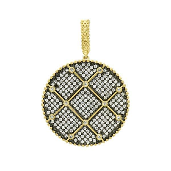 Signature Double Sided Pendant Necklace - YRZ070460B-27-Freida Rothman-Renee Taylor Gallery