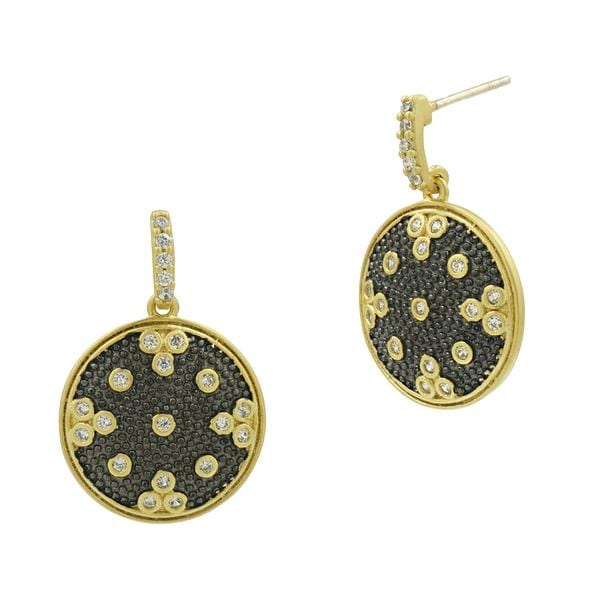 Signature Clover Disc Drop Earrings - YRZE020373B-14K
