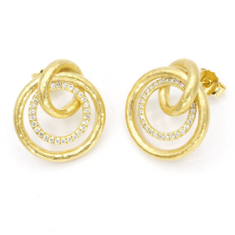 Marika Diamond & 14k Gold Earrings - M6248-Marika-Renee Taylor Gallery