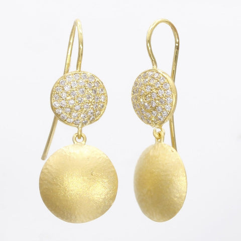 Marika Diamond & 14k Gold Earrings - M5754-Marika-Renee Taylor Gallery