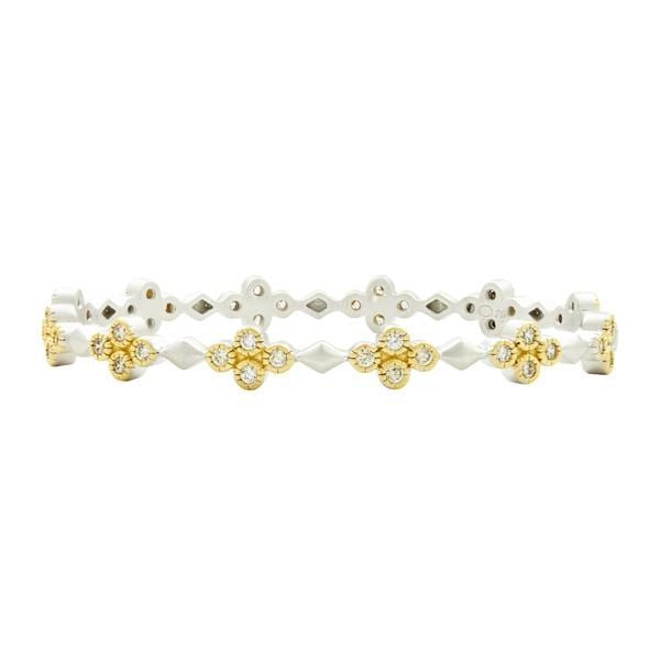 Fleur Bloom Delicate Hinge Bangle - VFPYZB21-H-Freida Rothman-Renee Taylor Gallery