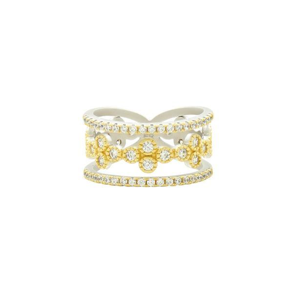 Fleur Bloom 3 Layer Clover Ring - VFPYZR22