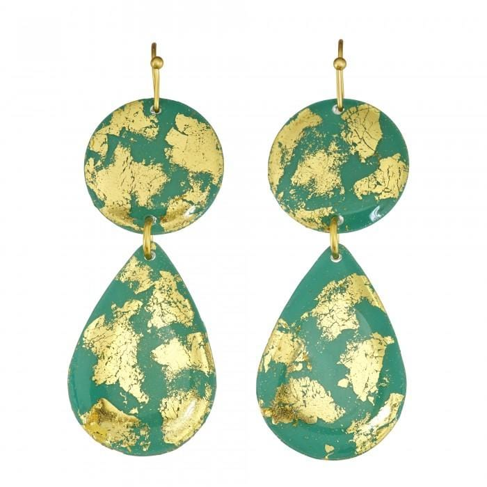 Jade Mini Teardrop Earrings - CC415-Evocateur-Renee Taylor Gallery