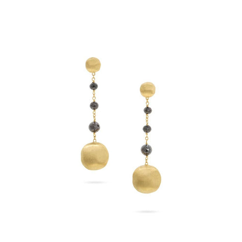 18K Africa Black Diamonds Earrings - OB1581 BNMIX Y-Marco Bicego-Renee Taylor Gallery