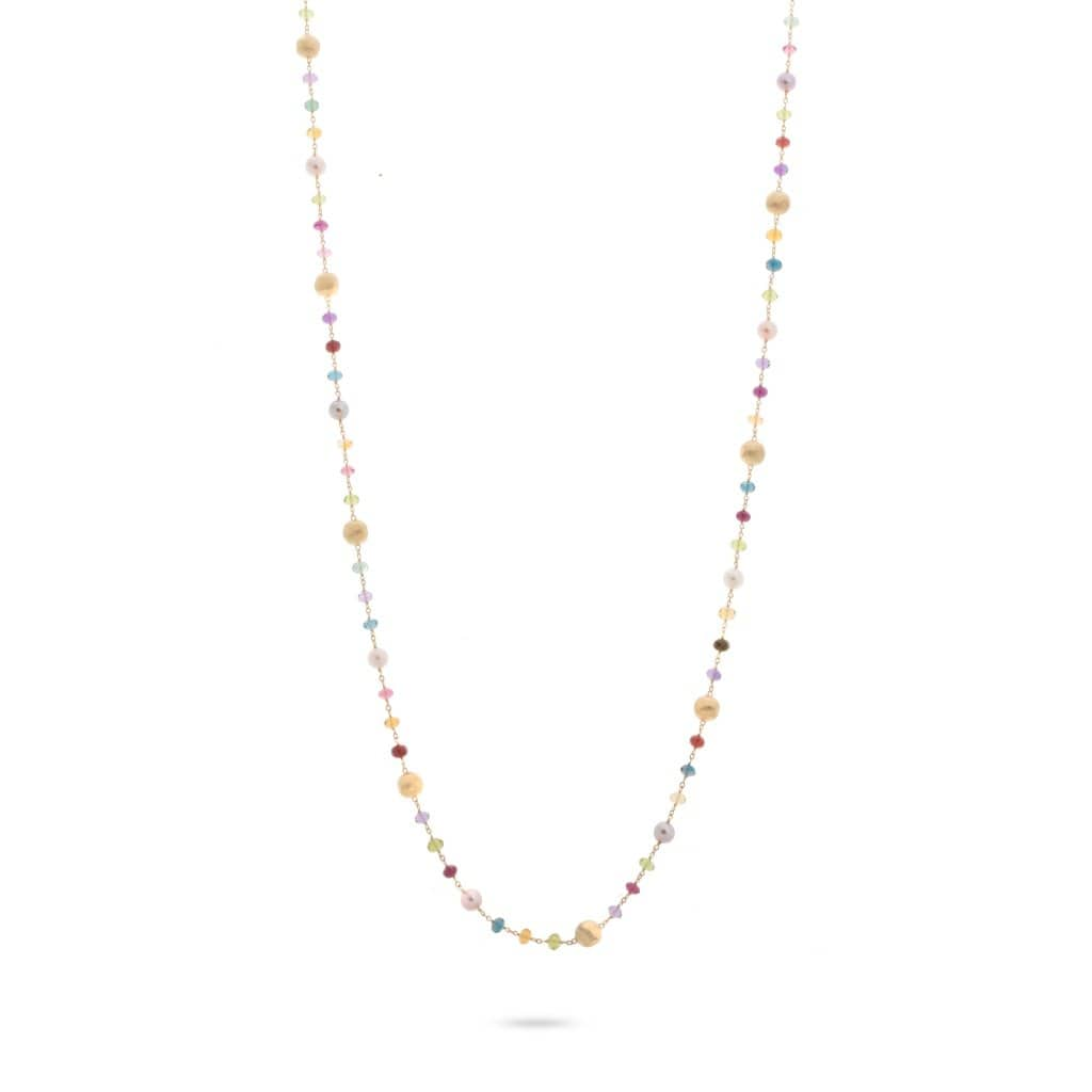 18K Africa Gemstone Pearl Necklace - CB2261-PL-MIX02-Marco Bicego-Renee Taylor Gallery