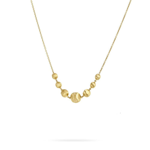 18K Africa Necklace - CB2328-Y-Marco Bicego-Renee Taylor Gallery