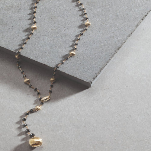 18K Africa Black Diamond Necklace - CB2344-B-BNMIX-Y-Marco Bicego-Renee Taylor Gallery
