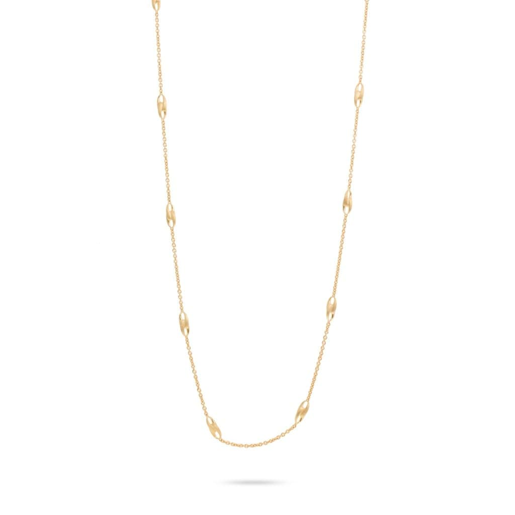 18K Lucia Long Link Necklace - CB2458-Y-Marco Bicego-Renee Taylor Gallery