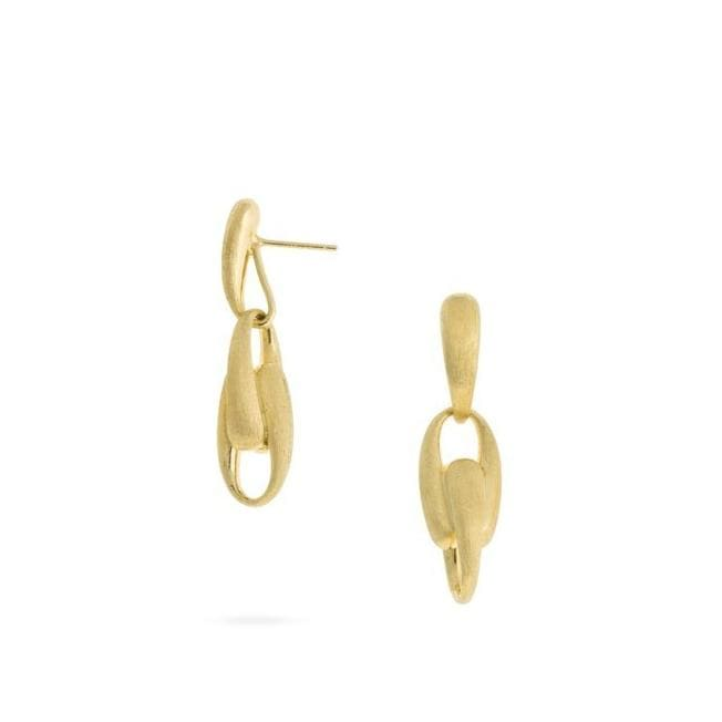 18K Lucia Gold Link Drop Earrings - OB1646-Y-Marco Bicego-Renee Taylor Gallery