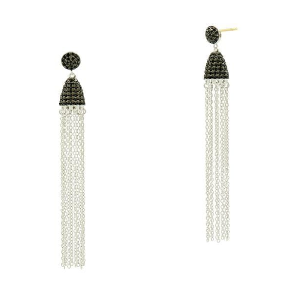 Industrial Finish Tassel Earring - IFPKBKE54-14K