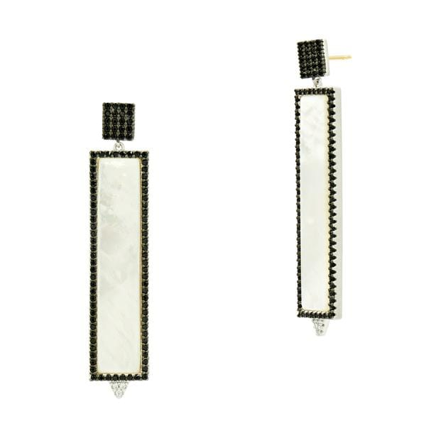 Industrial Finish Mother Of Pearl Rectangle Earring - IFPKZME45-14K-Freida Rothman-Renee Taylor Gallery