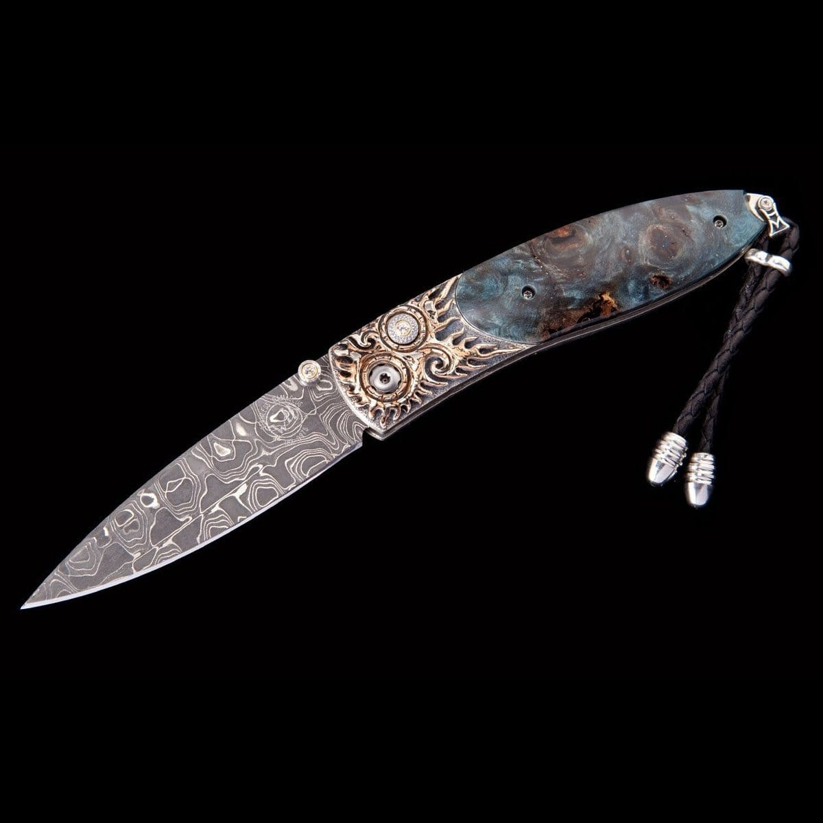 Monarch Blue Flame Limited Edition Knife - B05 BLUE FLAME - William Henry