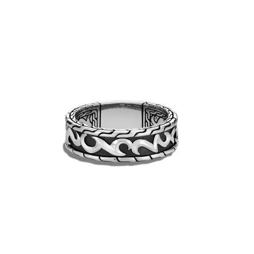 Classic Chain Mens Keris Dagger Band Ring - RM90464-John Hardy-Renee Taylor Gallery