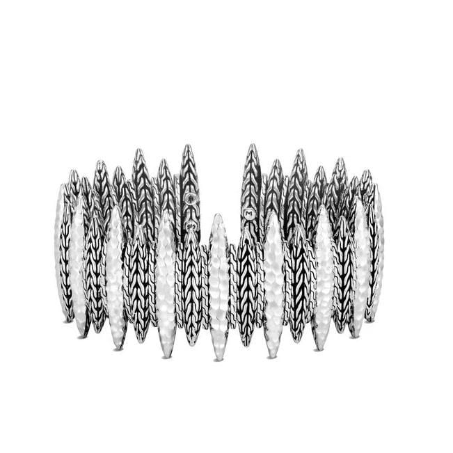 Classic Chain Spear Hammered Cuff - CB90533-John Hardy-Renee Taylor Gallery
