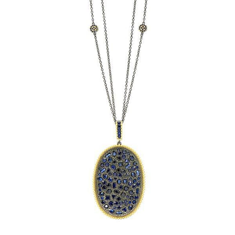 Midnight Statement Pendant Necklace - YR070466B-BL-30-Freida Rothman-Renee Taylor Gallery