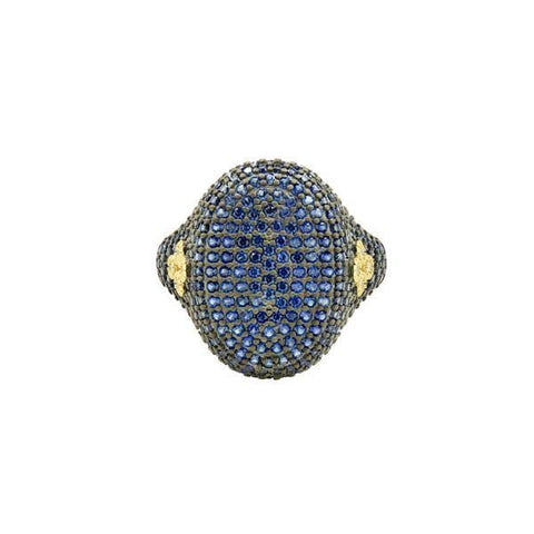 Midnight Pavé Cocktail Ring - YRZR090204B-BL - Freida Rothman