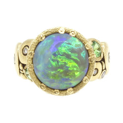 18K Orchard Opal & Diamond Ring - R-115S-Alex Sepkus-Renee Taylor Gallery