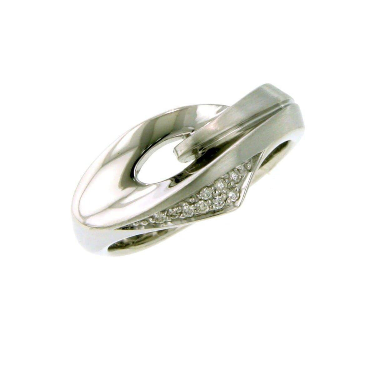 Sterling Silver Diamond Ring - 41/83721-Breuning-Renee Taylor Gallery