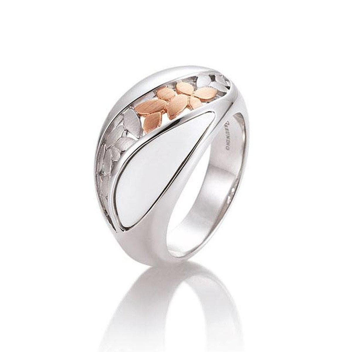 Rose Gold & Rhodium Plated Sterling Silver Ring - 42/03208-Breuning-Renee Taylor Gallery