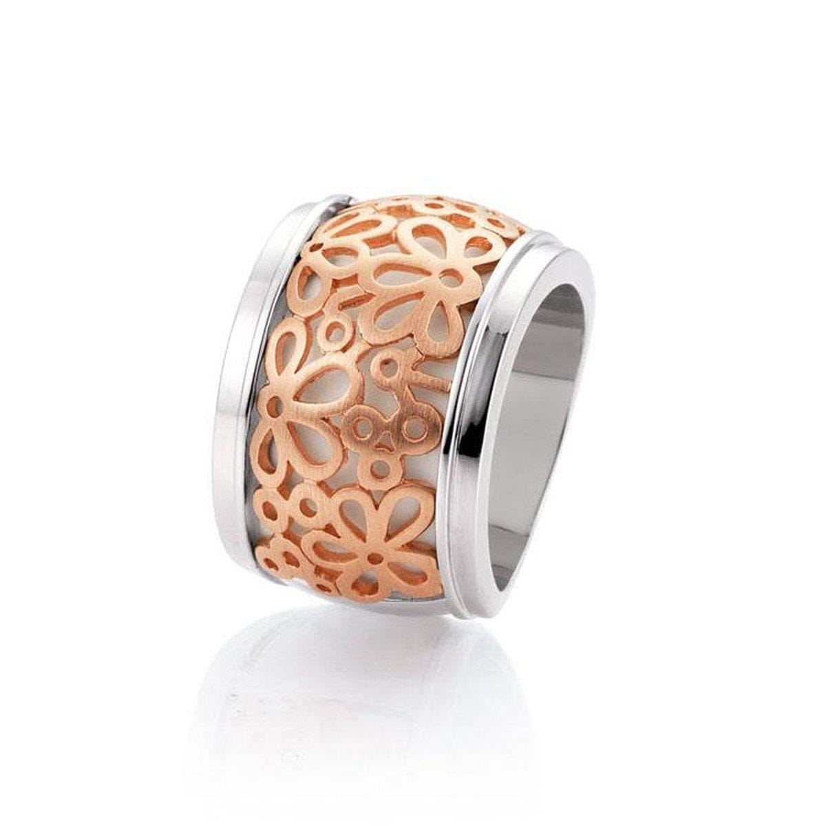 Rose Gold Plated Sterling Silver Ring - 42/05856-Breuning-Renee Taylor Gallery