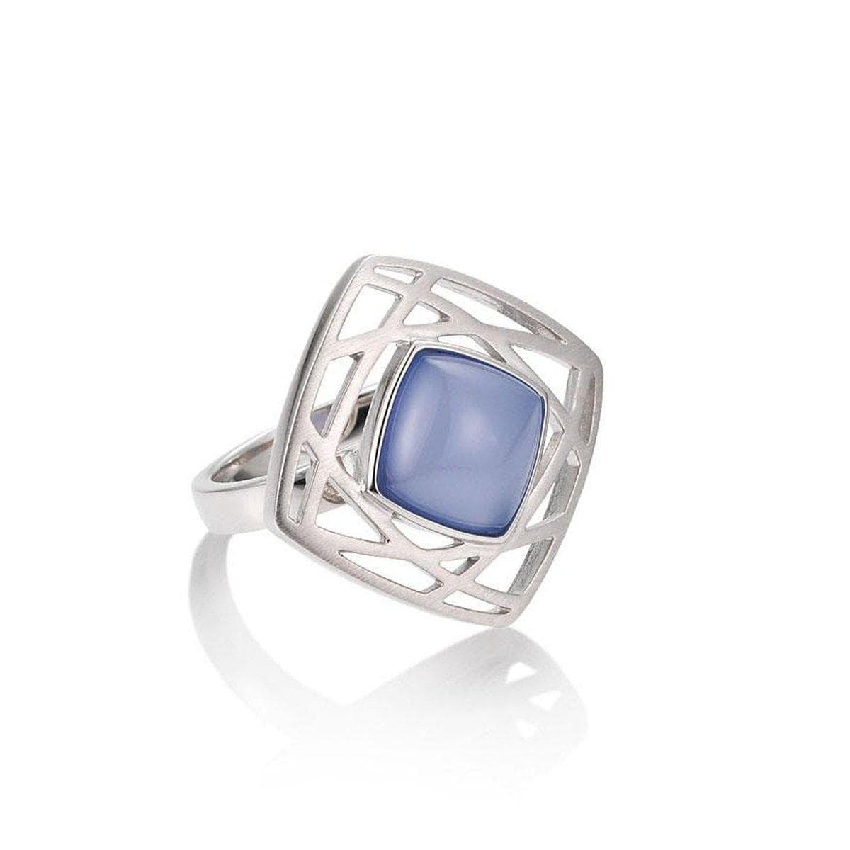 Sterling Silver Chalcedony Ring - 42/03227-Breuning-Renee Taylor Gallery