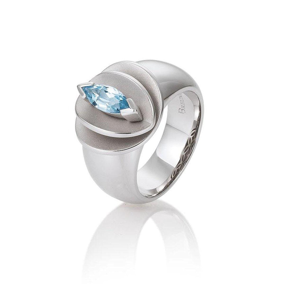 Sterling Silver Blue Topaz Ring - 42/03272-Breuning-Renee Taylor Gallery