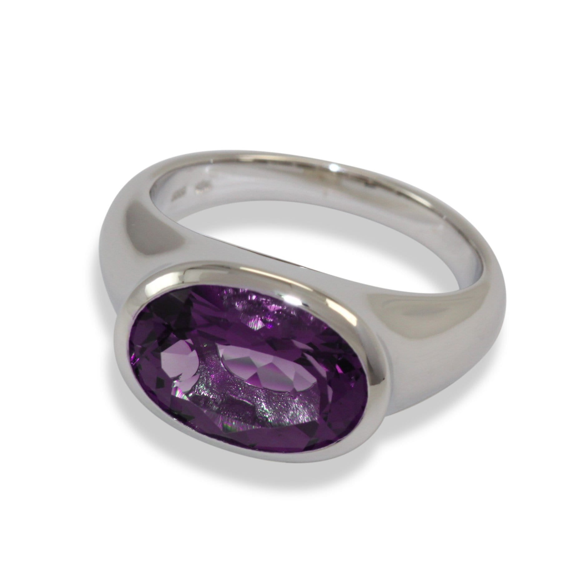 Sterling Silver Amethyst Ring - 42/82617-AM-Breuning-Renee Taylor Gallery
