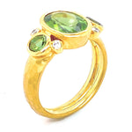 Marika Green Tourmaline & Dia. 14k Gold Ring - MA7719-Marika-Renee Taylor Gallery