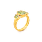 Marika Green Tourmaline & Dia. 14k Gold Ring - MA7719
